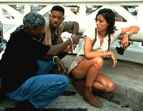 Will Smith with Martin Lawrence and Tea Leoni